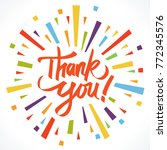 thank you illustration vector | Shutterstock .eps vector #772345576