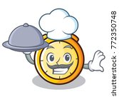 chef with food chronometer... | Shutterstock .eps vector #772350748