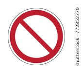 prohibited sign vector | Shutterstock .eps vector #772352770