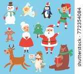 christmas vector characters... | Shutterstock .eps vector #772354084