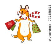 cute card with cartoon funny... | Shutterstock .eps vector #772358818