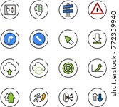 line vector icon set   elevator ... | Shutterstock .eps vector #772359940