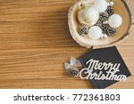 christmas concept with... | Shutterstock . vector #772361803