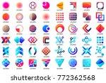 modern minimal vector logo for... | Shutterstock .eps vector #772362568