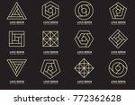 modern minimal vector logo for... | Shutterstock .eps vector #772362628
