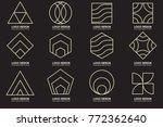 modern minimal vector logo for... | Shutterstock .eps vector #772362640