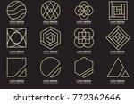 modern minimal vector logo for... | Shutterstock .eps vector #772362646