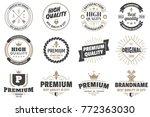 vintage retro vector logo for... | Shutterstock .eps vector #772363030