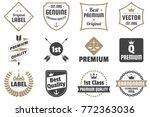 vintage retro vector logo for... | Shutterstock .eps vector #772363036