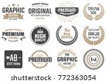 vintage retro vector logo for... | Shutterstock .eps vector #772363054