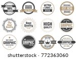 vintage retro vector logo for... | Shutterstock .eps vector #772363060