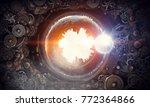 metal gear mechanism | Shutterstock . vector #772364866