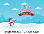 christmas greeting card with... | Shutterstock .eps vector #772365334