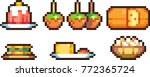 set of food icons in pixel style | Shutterstock .eps vector #772365724