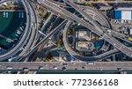 top view over the highway ... | Shutterstock . vector #772366168