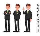 businessman character. vector... | Shutterstock .eps vector #772367383