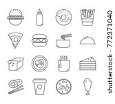 food icon set | Shutterstock .eps vector #772371040