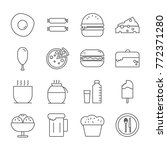 food icon set | Shutterstock .eps vector #772371280