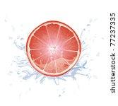 grapefruit in the water splash | Shutterstock .eps vector #77237335