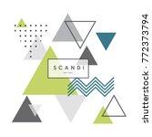 abstract geometric scandinavian ... | Shutterstock .eps vector #772373794