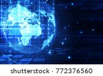 abstract technology security on ... | Shutterstock .eps vector #772376560