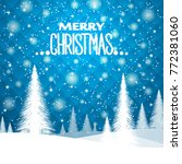 new year's christmas background ... | Shutterstock .eps vector #772381060