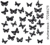 silhouettes of butterflies with ... | Shutterstock .eps vector #77238175