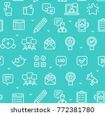 feedback seamless pattern... | Shutterstock .eps vector #772381780