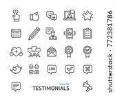 testimonial  feedback and... | Shutterstock .eps vector #772381786