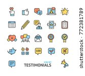 testimonial  feedback and... | Shutterstock .eps vector #772381789