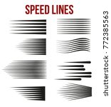 speed lines black for manga and ... | Shutterstock .eps vector #772385563