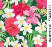 tropical seamless pattern with... | Shutterstock .eps vector #772385944