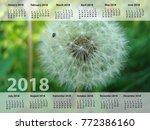 The Calendar For 2018year....