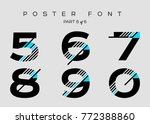 vector techno font with digital ... | Shutterstock .eps vector #772388860