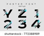 vector techno font with digital ... | Shutterstock .eps vector #772388989