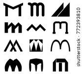 letter m logo design | Shutterstock .eps vector #772393810