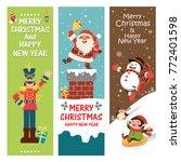 vintage christmas poster design ... | Shutterstock .eps vector #772401598