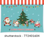 vintage christmas poster design ... | Shutterstock .eps vector #772401604