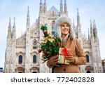 fun christmas trip to milan ... | Shutterstock . vector #772402828