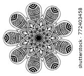 mandalas for coloring book.... | Shutterstock .eps vector #772403458