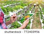 smart agriculture   precision... | Shutterstock . vector #772403956