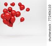 3d rendering of flying bunch of ... | Shutterstock . vector #772406110