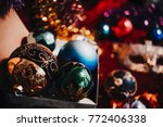 new year still life with... | Shutterstock . vector #772406338