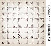 corners design elements ... | Shutterstock .eps vector #772409944