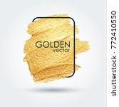 gold grunge texture in a frame. ...   Shutterstock .eps vector #772410550