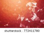 abstract low poly background ... | Shutterstock . vector #772411780