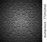 vintage black ornamental...   Shutterstock .eps vector #772412410