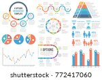 infographic elements   bar and... | Shutterstock .eps vector #772417060