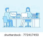 vector illustration in trendy... | Shutterstock .eps vector #772417453