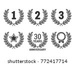 laurel wreath with numebrs 1  2 ... | Shutterstock .eps vector #772417714